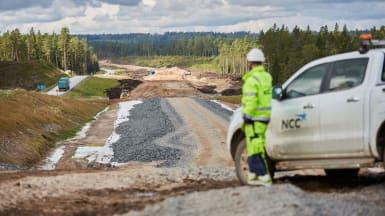 NCC bygger vägen mellan Månseryd och Mullsjö