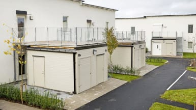Bild på referensprojektet Design Duo, i bostadsområdet Limhallen.