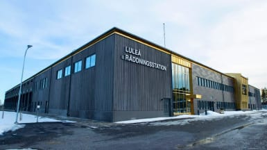 Exteriörvy på Luleås nya räddningsstation.