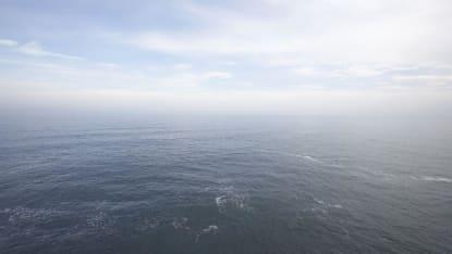Flygfoto över det vida havet.
