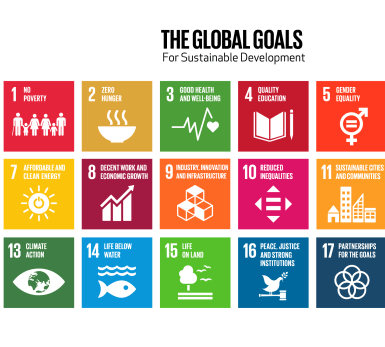 An illustration of the UN Global Goals.