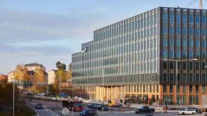 Bild på NCC:s nya huvudkontor i Solna