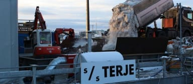 Picture of the snow melter, SS Terje.