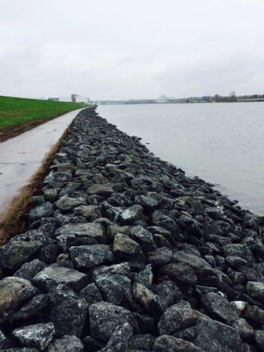 NCC kystsikringsstein sikrer kanalbredder i Bremen