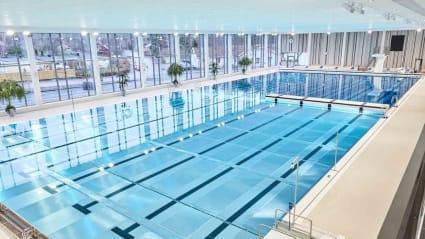 Foto på den nya 50-metersbassängen i Säffle.