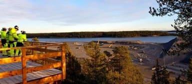 View of the construction of Norvik harbor, Nynäshamn.