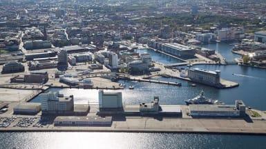 Flygbild över projektet Nyhamnen, Malmö.