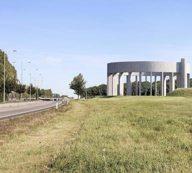 Bild på det nya vattentornet i Helsingborg.