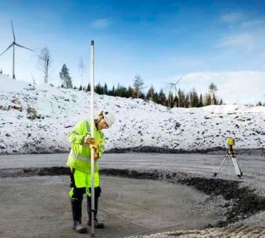 A worker doing construction work