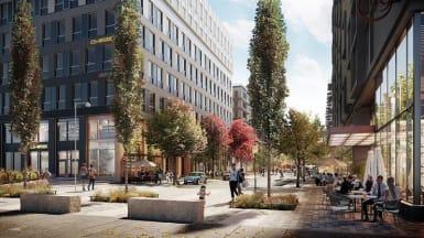 Bild på den nya gatan som går genom Järva Krog.