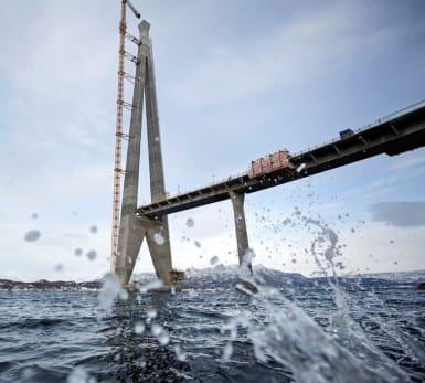 Bild på Halogalandsbron i Norge