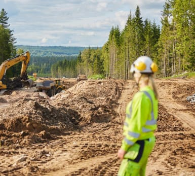 Picture of the work site Road 26/47, Jönköping, Sweden.