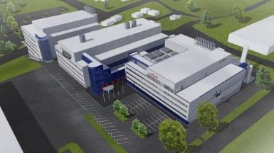 Illustration of the Murata factory expansion in Vantaa.