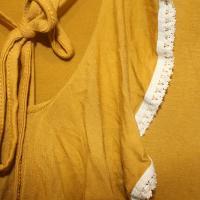 Maxi vestido mostaza