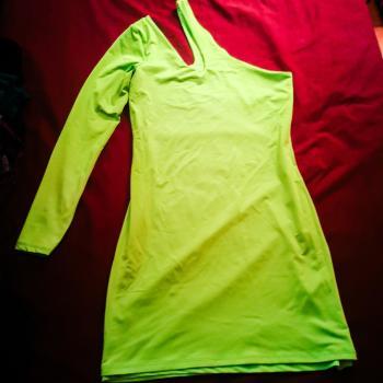 Vestido lycra verde fruor