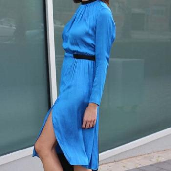 Vestido azul klein, S