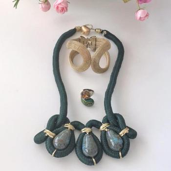 Lote de pulsera, collar y anillo