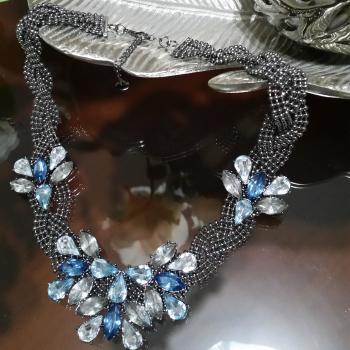 Collar Piedras Azul Sfera