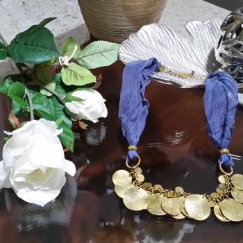 Collar Azul-Dorado