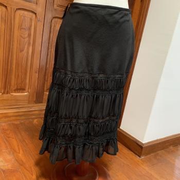 Falda negra vintage