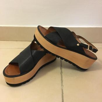 Sandalias de plataforma negras