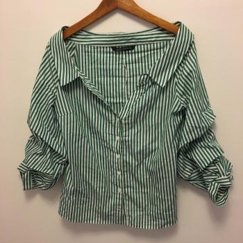Camisa líneas blanca y azules