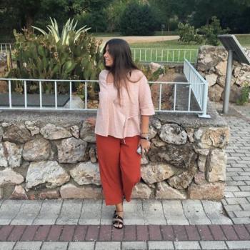 Pantalón culotte naranja