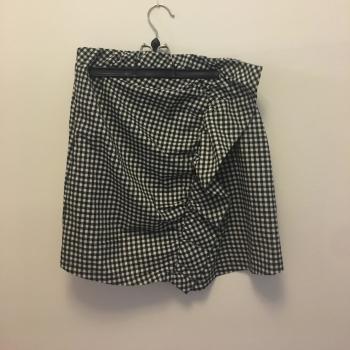 Falda con estampado vichy