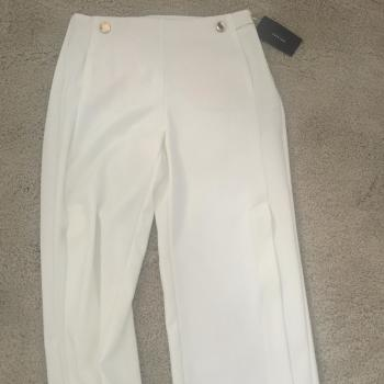 Pantalón blanco Zara pierna ancha
