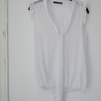Camisa Gasa Transparente Blanca