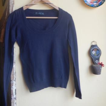 Pulover/suéter/jersey fino azul marino