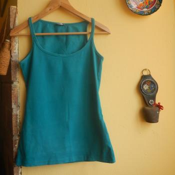 Camiseta tirantes turquesa / celeste