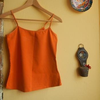 Camiseta de tiros ajustables naranja
