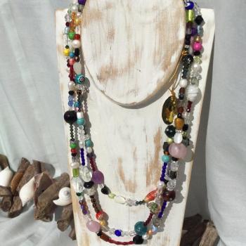 Collar cristal de murano.  Multicolor