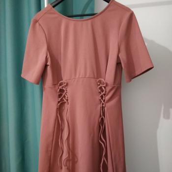 Vestido paseo rosa/morado