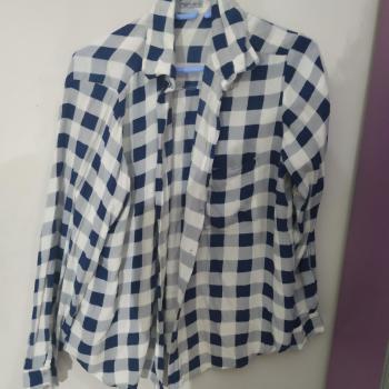 Camisa a Cuadros azul y blanca