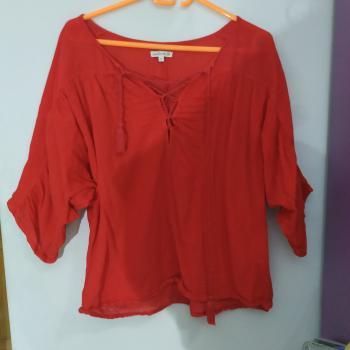 Blusa  roja hippie