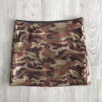 Falda militar lentejuelas