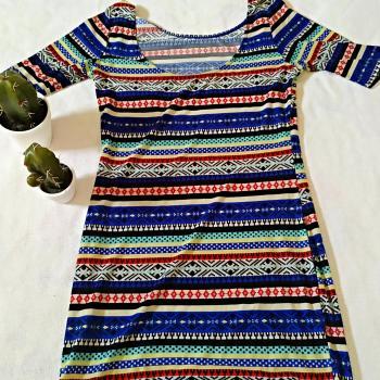 Vestido corto tribal
