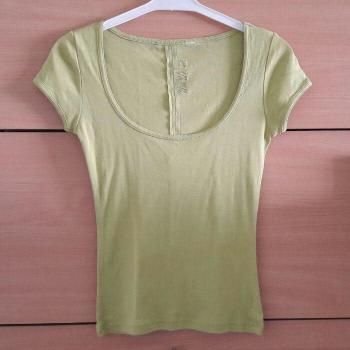 Camisa ajustada verde