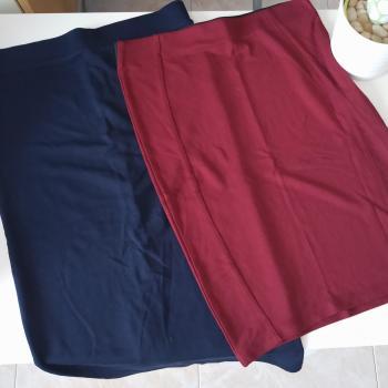 Dos faldas de tubo