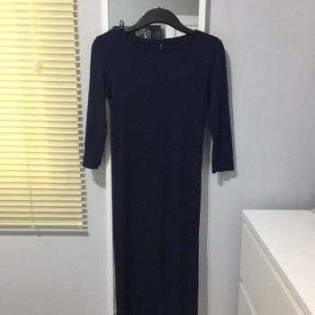 Vestido midi azul oscuro