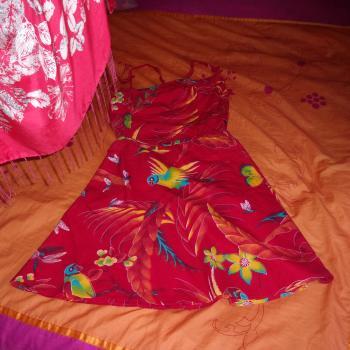 Vestido dos piezas multicolor de verano, modelo exclusivo