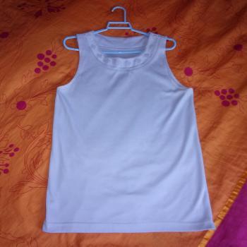 Blusa sin mangas de algodón tejido