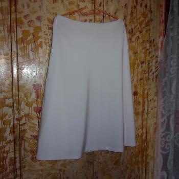 Falda larga blanca de verano de tela fina y forrada, modelo exclusivo