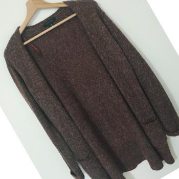 Cardigan tejido lana