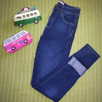 Jeans high waist Azul oscuro