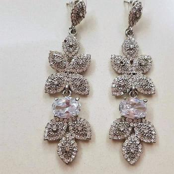 Pendientes strass cristal de vestir