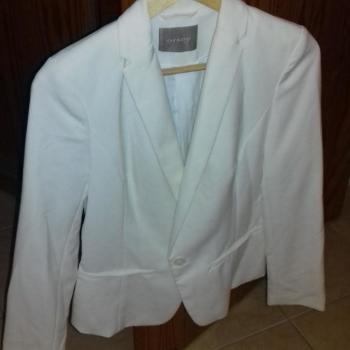 Chaqueta de vestir blanca