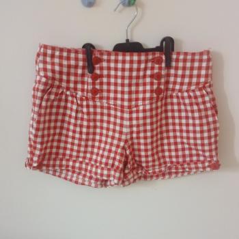 Pantalón corto cuadros vichy